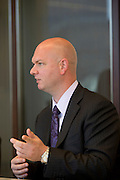Dave Wilson, gives remarks during an interview at Nuveen Asset Management in downtown Chicago, Ill., on Wednesday, September 23, 2015.
