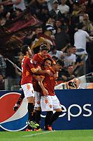 Esultanza di Marquinho dopo il gol (Roma)<br /> Roma, 28/04/2012 Stadio Olimpico<br /> Football Calcio 2011/2012 <br /> Roma vs Napoli<br /> Campionato di calcio Serie A<br /> Foto Insidefoto Antonietta Baldassarre