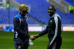 Ali Al-Habsi of Reading jokes around with Mohamed Diame of Newcastle United - Mandatory by-line: Jason Brown/JMP - 07/03/2017 - FOOTBALL - Madejski Stadium - Reading, England - Reading v Newcastle United - Sky Bet Championship