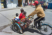 Pedal taxi, tricycle, Puno, Peru