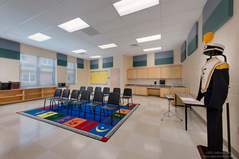 Architectural Interior Image Of Bester Elementary School In Hagerstown Maryland By Jeffrey Sauers Commercial Photographics