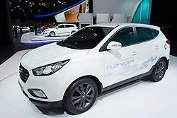 hydrogen fuel cell concept  Hyundai ix35 car at Paris Motor Show 2012