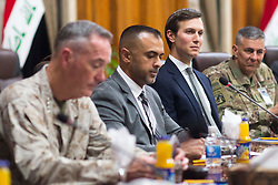 April 3, 2017 - Baghdad, Iraq - U.S. Joint Chiefs Chairman Gen. JOSEPH DUNFORD, left, and JARED KUSHNER, Senior Advisor and son-in-law to President Trump, right, during a meeting with the Iraqi Minister of Defense at the Ministry of Defense. (Credit Image: © Dominique A. Pineiro/Planet Pix via ZUMA Wire)