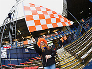 Luton Town fan gets ready for tonights match during the EFL Sky Bet League 2 play off second leg match between Luton Town and Blackpool at Kenilworth Road, Luton, England on 18 May 2017. Photo by Ian  Muir.