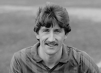 Reggie Dornan, footballer, Ards FC, N Ireland, UK, February 1986, 198603000301RD<br /> <br /> Copyright Image from Victor Patterson, 54 Dorchester Park, <br /> Belfast, UK, BT9 6RJ<br /> <br /> t1: +44 28 9066 1296 (from Rep of Ireland 048 9066 1296)<br /> t2: +44 28 9002 2446 (from Rep of Ireland 048 9002 2446)<br /> m: +44 7802 353836<br /> <br /> e1: victorpatterson@me.com<br /> e2: victorpatterson@gmail.com<br /> <br /> www.victorpatterson.com<br /> <br /> Please see my Terms and Conditions of Use at VICTORPATTERSON.COM. It is IMPORTANT that you familiarise yourself with them.<br /> <br /> Images used on the Internet must be visibly watermarked i.e. ©VICTORPATTERSON.COM within the body of the image and copyright metadata must not be deleted. Images used on the Internet have a size restriction of 4kbs and are chargeable at the then current NUJ rates.<br /> <br /> This image is only available for the use of the download recipient i.e. television station, newspaper, magazine, book publisher, etc, and must not be passed on to any third party. It is also downloaded on condition that each and every usage is notified within 7 days to victorpatterson@me.com<br /> <br /> The right of Victor Patterson to be identified as the author is asserted in accordance with The Copyright Designs And Patents Act (1988).
