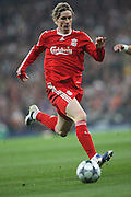 Fernando Torres of Liverpool in action during the UEFA Champions League match. February 25 2009