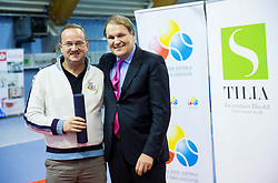 of TD Slovan and Marko Umberger, president of TZS at Tennis exhibition day and Slovenian Tennis personality of the year 2013 annual awards presented by Slovene Tennis Association TZS, on December 21, 2013 in BTC City, TC Millenium, Ljubljana, Slovenia.  Photo by Vid Ponikvar / Sportida