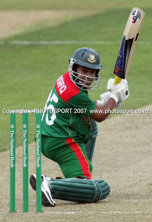 Bangladesh batsman Mushfiqur Rahim. Northern Knights v Bangladesh. One day tour cricket match. Seddon Park, Hamilton. Sunday 16 December 2007. Photo: Stephen Barker/PHOTOSPORT