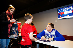 Auguy Slowik signs autographs as Season ticket holders and members of Bristol Sport 7s and Forever Bristol take part in a Bristol Sport Christmas Party - Mandatory byline: Rogan Thomson/JMP - 22/12/2015 - SPORT - Ashton Gate Stadium - Bristol, England - Bristol Sport Christmas at Ashton Gate.