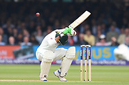 Haris Sohail of Pakistan takes evasive action on DAy Two of the NatWest Test Match match at Lord's, London<br /> Picture by Simon Dael/Focus Images Ltd 07866 555979<br /> 25/05/2018