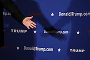 Republican presidential candidate Donald Trump gestures while speaking at a town hall meeting in Windham,  N.H. Monday, Jan. 11, 2016.  CREDIT: Cheryl Senter for The New York Times