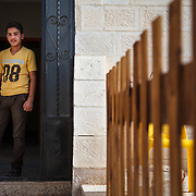 Ab al Kareem, 14, and his family arrived in Jordan two years ago, after fleeing the Syrian conflict. is a participant in the Nubader No Lost Generation Project at Mercy Corps' partner organization AJDT. The No Lost Generation Project aims to provide at risk Syrian and Jordanian youth with alternative education, skills, and psychosocial services to address profound stress the children have gone through. He just finished the sports program and hopes to attend another session at the center. <br />
