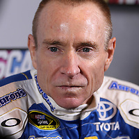 Driver Mark Martin speaks with the media during the NASCAR Media Day event at Daytona International Speedway on Thursday, February 14, 2013 in Daytona Beach, Florida.  (AP Photo/Alex Menendez)