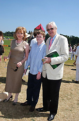 Actress PATRICIA HODGE her husband PETER OWEN and their son at the Veuve Clicquot sponsored Gold Cup Final or the British Open Polo Championship held at Cowdray Park, West Sussex on 17th July 2005.<br /><br />NON EXCLUSIVE - WORLD RIGHTS