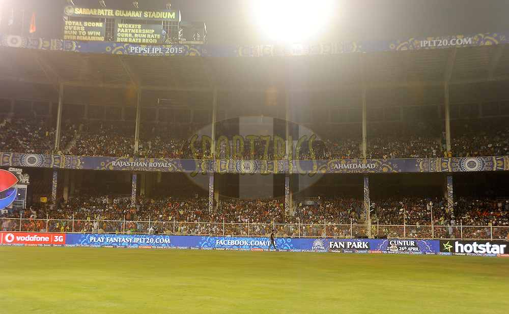 GV of the Sardar Patel Stadium during match 22 of the Pepsi IPL 2015 (Indian Premier League) between The Rajasthan Royals and The Royal Challengers Bangalore held at the Sardar Patel Stadium in Ahmedabad , India on the 24th April 2015.<br /> <br /> Photo by:  Pal Pillai / SPORTZPICS / IPL