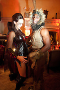 GLADIATORS: ENIGMA;(  JENNY RACY; ) DOONE; ( WAYNE GORDON_ ,  IVth annual BloodLust Ball  Hampton Court House. Hampton Court. London. 31 October 2009