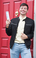 12/08/2015 Philipe Amaya delighted with his  625 points from Yeats College Galway in his leaving certificate. Photo:Andrew Downes, xposure