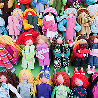 "VENICE, ITALY - DECEMBER 18:  A display of locally handmade dolls at ""l'Altro Natale"" Christmas market on December 18, 2010 in Venice, Italy. ""L'Altro Natale"" an alternative Christmas market organised over the busiest shopping week end of the year promotes fair trade and alternative commerce."
