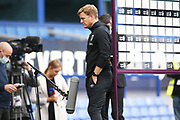 Relegated Bournemouth Manager Eddie Howe facing the cameras after the Premier League match between Everton and Bournemouth at Goodison Park, Liverpool, England on 26 July 2020.