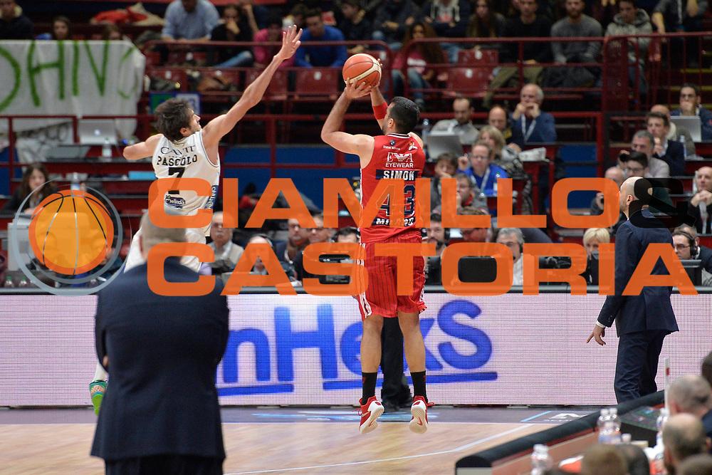 DESCRIZIONE : Milano Lega A 2015-16 Olimpia EA7 Emporio Armani Milano-Dolomiti Energia Trento<br /> GIOCATORE : Krunoslav Simon<br /> CATEGORIA : Controcampo tre punti <br /> SQUADRA : Olimpia EA7 Emporio Armani Milano<br /> EVENTO : Campionato Lega A 2016-2016<br /> GARA : Olimpia EA7 Emporio Armani Milano-Dolomiti Energia Trento<br /> DATA : 16/01/2016<br /> SPORT : Pallacanestro <br /> AUTORE : Agenzia Ciamillo-Castoria/I.Mancini<br /> Galleria : Lega Basket A 2015-2016  <br /> Fotonotizia : Milano  Lega A 2015-16 Olimpia EA7 Emporio Armani Milano-Dolomiti Energia Trento<br /> Predefinita :