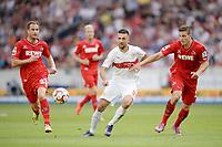 Fotball, 30 August 2014,<br /> Fussball Bundesliga, VfB Stuttgart - 1. FC Köln 0:2<br /> v.l. Matthias Lehmann, Vedad Ibisevic (Stuttgart), Kevin Wimmer<br /> <br /> Norway only