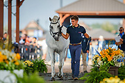 BRA-Joao Victor Marcari Oliva presents Xiripiti during the Horse Inspection for Dressage. 2018 FEI World Equestrian Games Tryon. Tuesday 11 September. Copyright Photo: Libby Law Photography