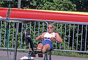 Munich, GERMANY   GB Athlete warming up on the ergo. 1998 FISA World Cup, Munich Olympic Rowing Course, 29-31 May 1998.  [Mandatory Credit, Peter Spurrier/Intersport-images] 1998 FISA World Cup, Munich, GERMANY