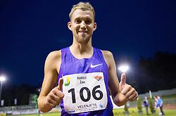 Zan Rudolf of Slovenia celebrates after 800m Men during 20th European Athletics Classic Meeting in Honour of Miners' Day in Velenje on July 1, 2015 in Stadium Velenje, Slovenia. Photo by Vid Ponikvar / Sportida
