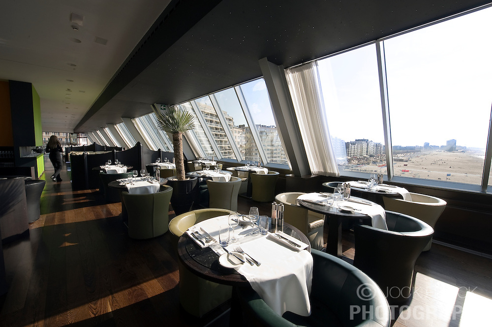 Dinning room of the Ostend Queen restaurant on top of the Ostend Casino, in Ostend, Belgium, Sunday, Sept. 14, 2008. (Photo © Jock Fistick)