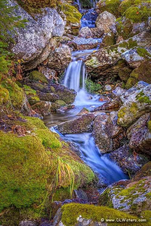 A little stream along the Mount Washington auto Road in New Hampshire.