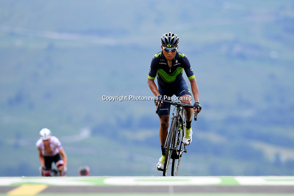 PEYRAGUDES, FRANCE - JULY 13 : QUINTANA ROJAS Nairo Alexander (COL) Rider of Movistar Team during stage 12 of the 104th edition of the 2017 Tour de France cycling race, a stage of 214.5 kms between Pau and Peyragudes on July 13, 2017 in Peyragudes, France, 13/07/2017