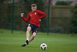 NEWPORT, WALES - Thursday, March 21, 2019: Wales' Tom Pugh during an Under-21 training session at Dragon Park. (Pic by David Rawcliffe/Propaganda)