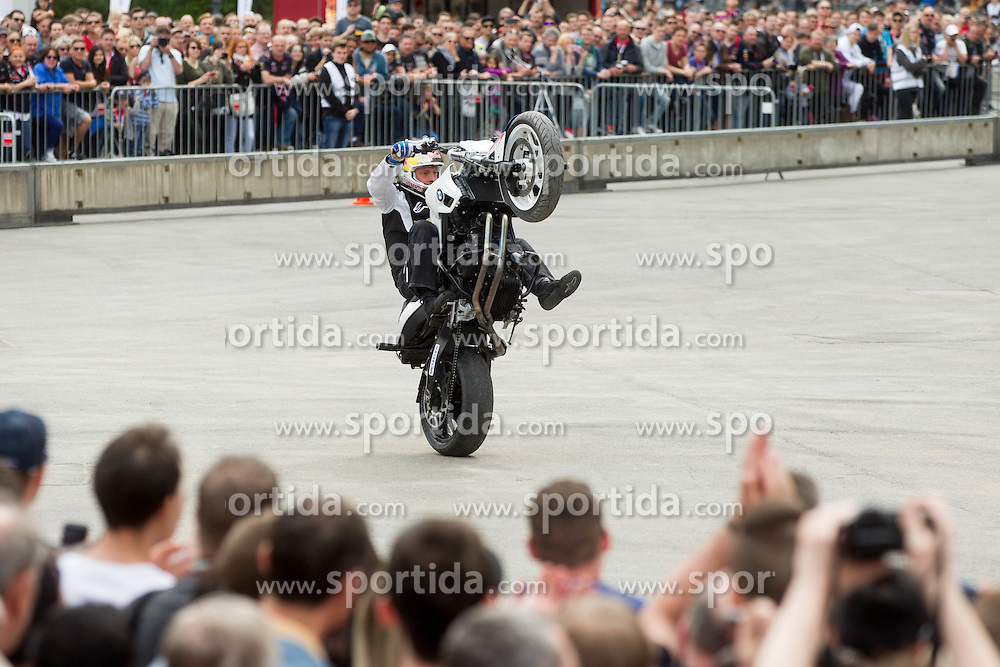 Moto legend Chris Pfeiffer  at Spielberg Red Bull Showrun, on April 22, 2015 in Rathausplatz, Vienna / Wien, Austria. Photo by Vid Ponikvar / Sportida