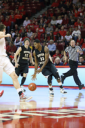 08 December 2012: Charles Harris handles the ball  during an NCAA mens basketball game between the Western Michigan Broncos and the Illinois State Redbirds (Missouri Valley Conference) in Redbird Arena, Normal IL