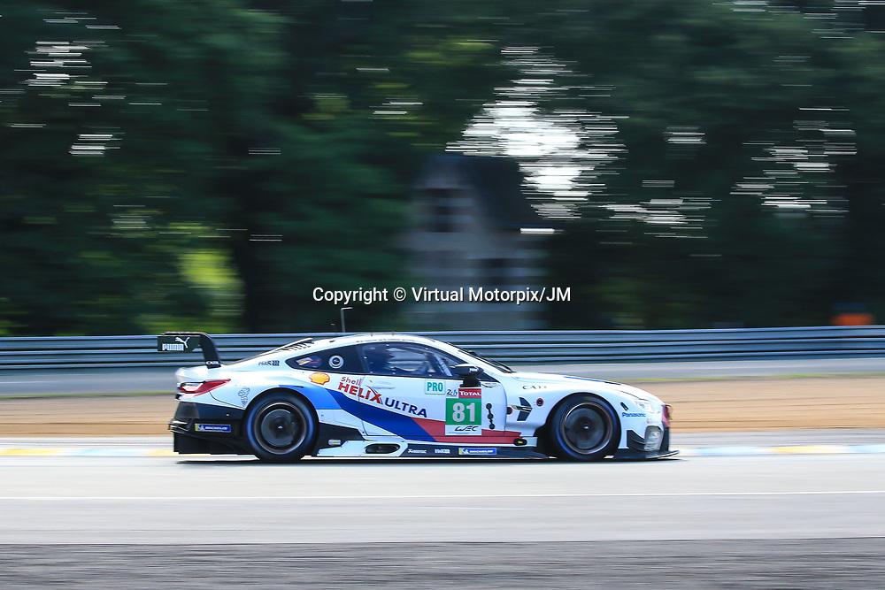 #81, BMW Team MTEK, BMW M8 GTE, LMGTE Pro, driven by: Martin Tomczyk, Nicky Catsburg, Philipp Eng, 24 Heures Du Mans  2018, , 16/06/2018,