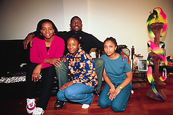 December 29, 2017.Former international soccer star George Weah elected Liberian president / Here with his wife and family.Archive file dated 1998 (Credit Image: © Mantero/Fotogramma/Ropi via ZUMA Press)