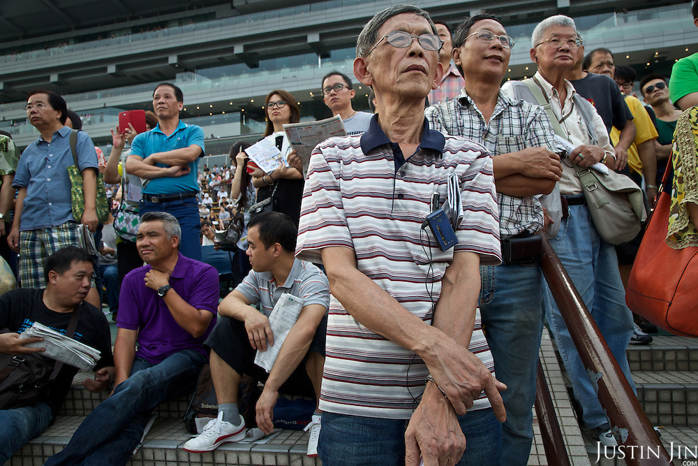 Punters at the Hong Kong Jockey Club's Shatin Racecourse.