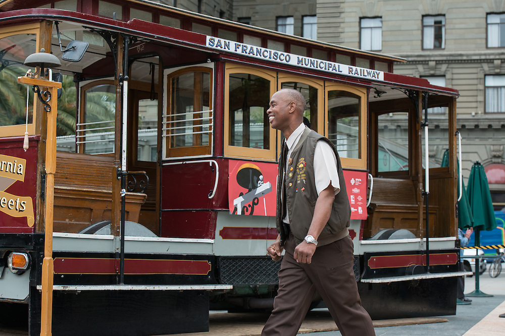 Cable Car Operator Byron Cobb Performs at the 53rd Annual Cable Car Bell Ringing Contest   July 7, 2016