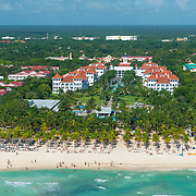 Aerial view of the Riu Yucatan on Playa del Carmen. Mexico