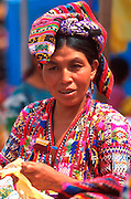 GUATEMALA, HIGHLANDS, MARKETS Solol� near Lake Atitlan; market day on the main plaza
