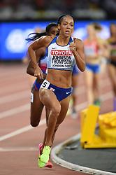 Katarina Johnson-Thompson of Great Britain in action - Mandatory byline: Patrick Khachfe/JMP - 07966 386802 - 06/08/2017 - ATHLETICS - London Stadium - London, England - 800m Heptathlon - IAAF World Championships