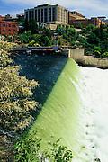 Image of the Spokane Falls along the Spokane River, Spokane, Washington, Pacific Northwest