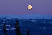 Full moon over Whitehorse