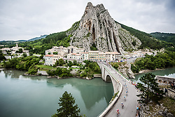 The peloton crossing La Durance bridge, Tour de France, Stage 15: Tallard / Nîmes, UCI WorldTour, 2.UWT, Sisteron, France, 20th July 2014, Photo by BrakeThrough Media