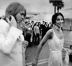 Jun. 30, 1975 - Married - Cher Bono, divorced last Friday from her singing and television partner Sonny Bono, was married Monday to rock star Gregg Allman, left, during a brief ceremony performed at Caesar's Palace Hotel in Las Vegas. Cher and Allman, 27, a singer and songwriter with The Allman Band, were whisked away in a limousine immediately after the ceremony and refused to speak with reporters. EDS: Photo taken May 19, 1975 at the Emmy Awards in Los Angeles. (Credit Image: © Keystone Press Agency/Keystone USA via ZUMAPRESS.com)