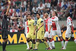 25-04-2010 VOETBAL: AJAX - FEYENOORD: AMSTERDAM<br /> De eerste wedstrijd in de bekerfinale is gewonnen door Ajax met 2-0 / Siem de Jong, Demy de Zeeuw en Denny Landzaat<br /> ©2010-WWW.FOTOHOOGENDOORN.NL