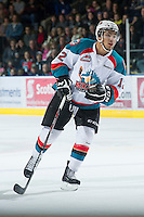 KELOWNA, CANADA - DECEMBER 30:  Tyrell Goulbourne #12 of the Kelowna Rockets skates on the ice against the Everett Silvertips at the Kelowna Rockets on December 30, 2012 at Prospera Place in Kelowna, British Columbia, Canada (Photo by Marissa Baecker/Shoot the Breeze) *** Local Caption ***