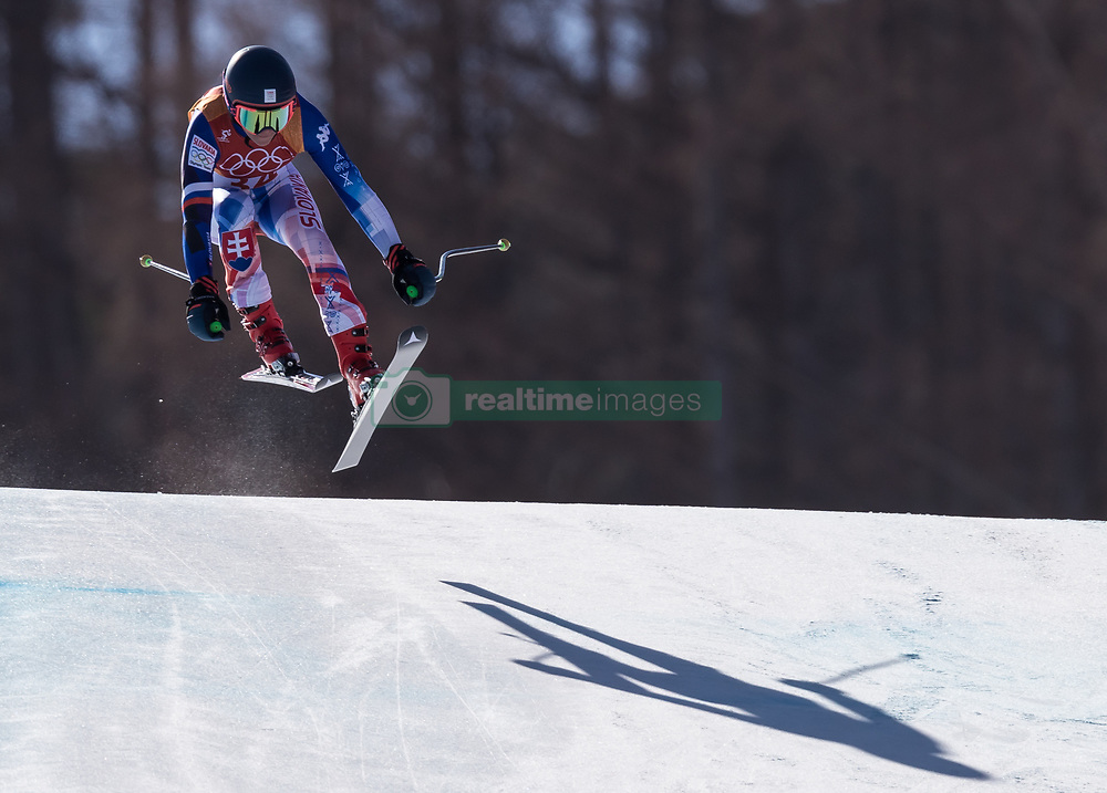 February 17, 2018 - PyeongChang, South Korea - BARBARA KANTOROVA of Slovakia during Alpine Skiing: Ladies Super-G at Jeongseon Alpine Centre at the 2018 Pyeongchang Winter Olympic Games. (Credit Image: © Patrice Lapointe via ZUMA Wire)