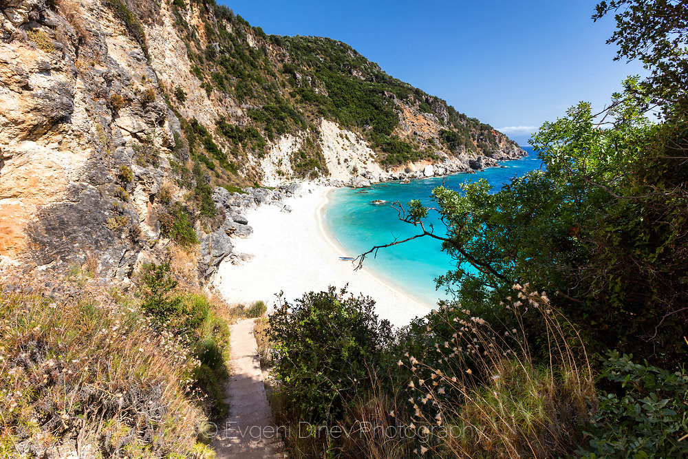 Cosy small beach with azure water