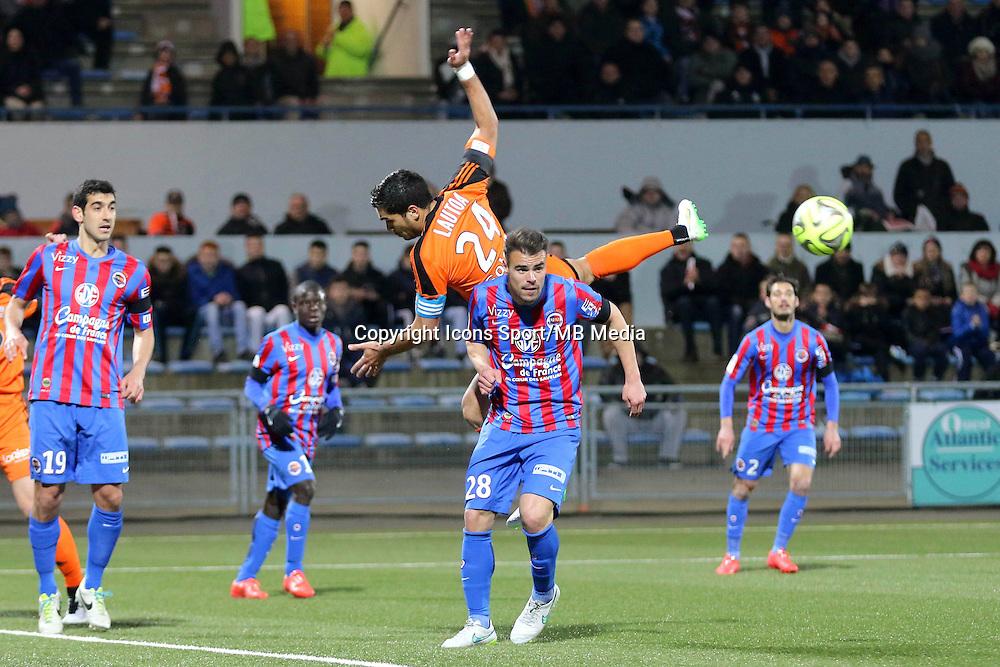 Wesley LAUTOA / Damien DA SILVA - 14.03.2015 - Lorient / Caen - 29eme journee de Ligue 1<br /> Photo : Vincent Michel / Icon Sport